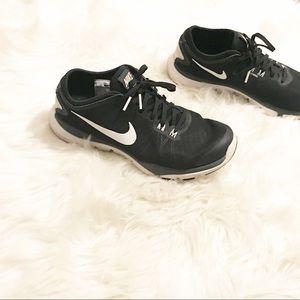 NIKE training flex supreme shoes black and white